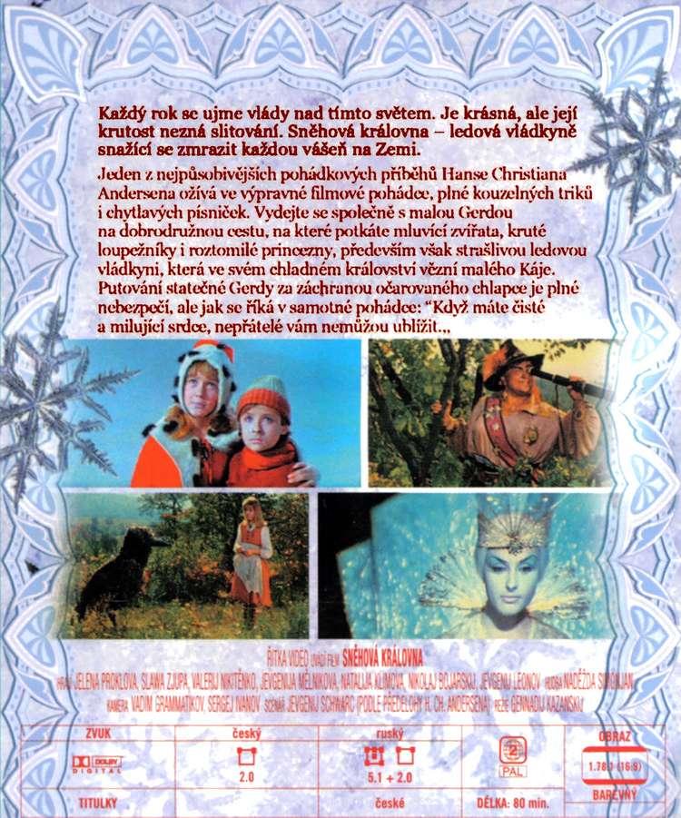 SNĚHOVÁ KRÁLOVNA dvd
